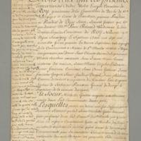 Sisters of Sainte-Marthe de Dijon Legal Document, 1736