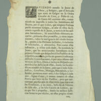 Order of the 'Junta de Obras y Bosque' (Works and Forestry Board), Madrid and Zaragoza (Spain), 1761
