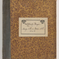 Mildred Deyo Diary, 1909 August-December