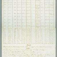 Cuadro Estadistico De La Parroquia De Sn. Martin Huaquechula (Mexico), 1853